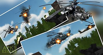 Helicopter air battle: gunship