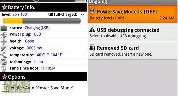 Power save mode toggle