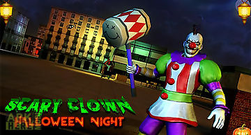 Scary clown: halloween night