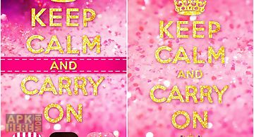 Keep calm girl go theme