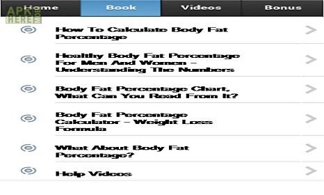 Body fat percentage for Android free download at Apk Here