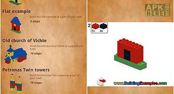 Buildings with building bricks