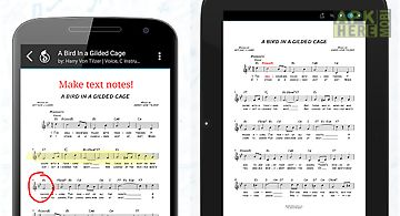 Musicnotes sheet music player
