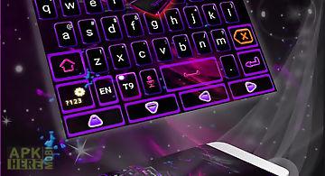 Purple flame go keyboard theme