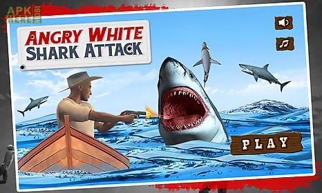 angry white shark attack