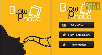 Blow photo - timer camera