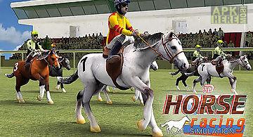 Horse racing simulation 3d