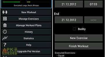 Easy workout log