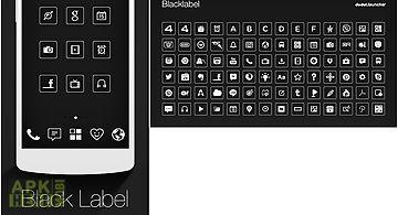 Blacklabel line launcher theme