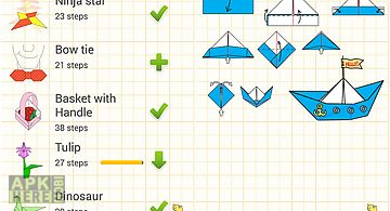 Animated origami instructions