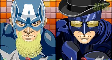 Beard salon super hero