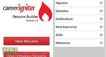 career igniter resume builder