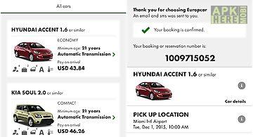 Europcar – car rental app