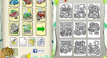 Cars coloring book game
