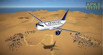 Jumbo airplane simulator