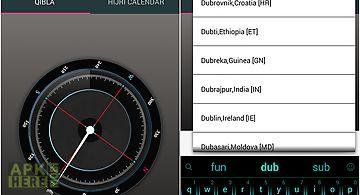 Qibla compass- hijri calendar