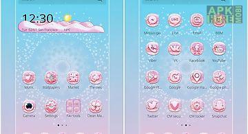 Pink glow theme