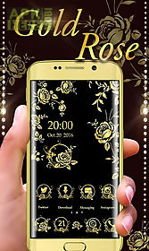 gold rose go launcher theme