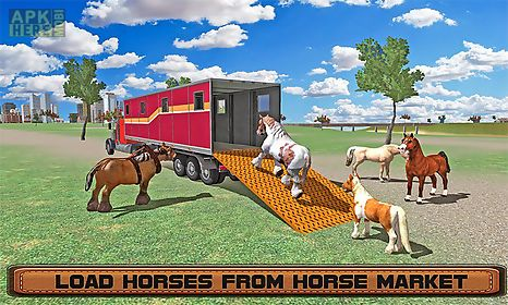 horse stunts transporter truck