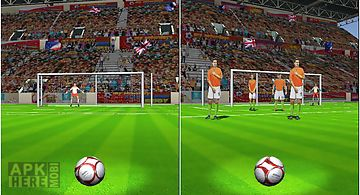 Penalty flick : football goal