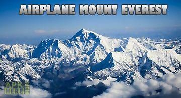 Airplane mount everest