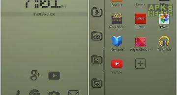 Retro lcd smart launcher theme