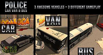 Police car van & bus parking