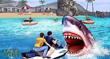 Angry shark 3d simulator game
