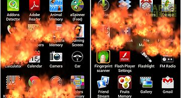 Burning screen