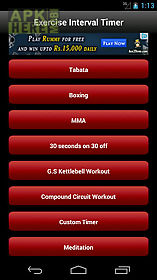 tabata exercise interval timer