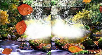 Autumn waterfall 3d Live Wallpap..
