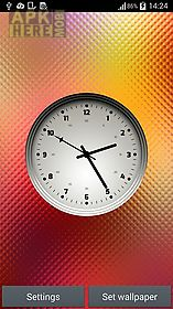 multicolor clock live wallpaper