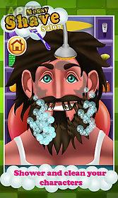 beard shave salon – hairy face
