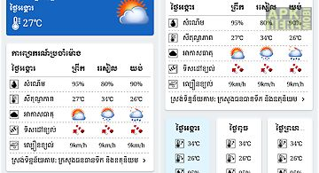 Khmer weather forecast