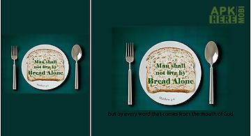 Man lives not by bread alone