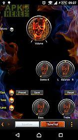 poweramp skin flames