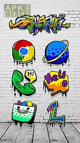 rock graffiti theme