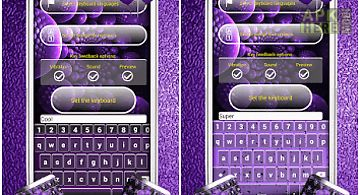 Purple color keyboard designs