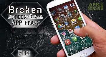 Broken screen-crack app prank
