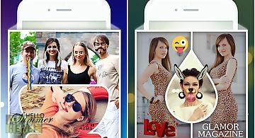 Shape collage photo mixer