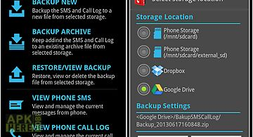 Sms & call log backup