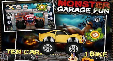 Monster car garage fun