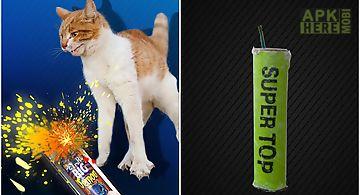 Bang petard deafened cat joke