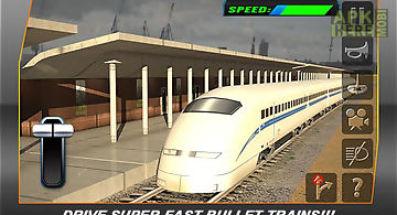 Bullet train subway station 3d
