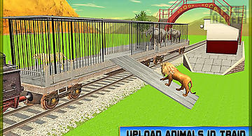 Transport train: zoo animals