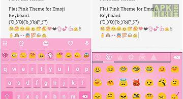 Classic pink emoji keyboard