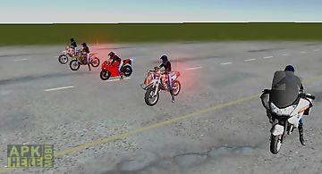 Motorbike driving simulation