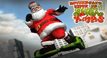 Hoverboard rider 3d: santa xmas