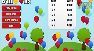 Pop balloons game