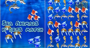 Sea animals and pets match game ..